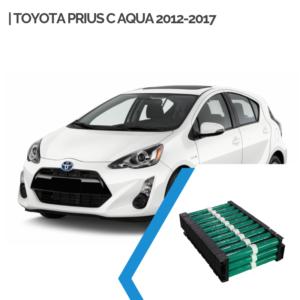 EnnoCar Ni-MH 144V 6.5Ah Cylindrical Hybrid Car Battery for Toyota Prius C Aqua 2012-2017